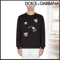 Dolce & Gabbana Crew Neck Pullovers Long Sleeves Other Animal Patterns