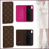 Louis Vuitton MONOGRAM Monogram Unisex Blended Fabrics Bi-color Smart Phone Cases
