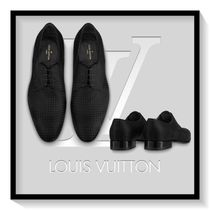 Louis Vuitton Plain Toe Blended Fabrics Plain Leather Loafers & Slip-ons