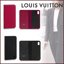 Louis Vuitton EPI Unisex Blended Fabrics Bi-color Smart Phone Cases