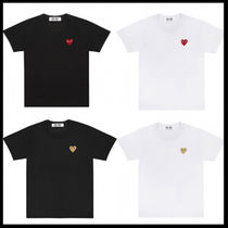 COMME des GARCONS Heart Street Style Plain Cotton Short Sleeves T-Shirts