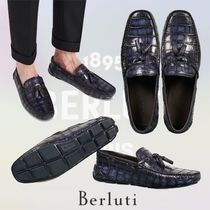 Berluti Loafers Leather U Tips Python Loafers & Slip-ons