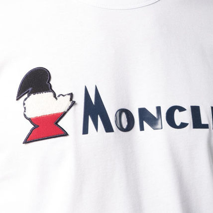 MONCLER Crew Neck Crew Neck Pullovers Street Style Plain Cotton Short Sleeves 13