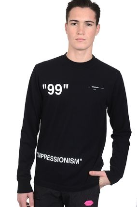 Off-White Long Sleeve Crew Neck Long Sleeves Cotton Long Sleeve T-Shirts 2