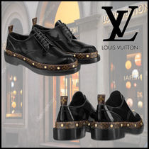 25e47ffecd6 Louis Vuitton Monogram Moccasin Leather Elegant Style Flats