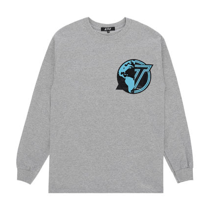 Crew Neck Pullovers Unisex Street Style Collaboration