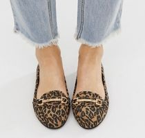 New Look Leopard Patterns Casual Style Loafer & Moccasin Shoes