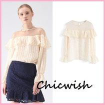 Chicwish Star Blended Fabrics Medium Elegant Style Shirts & Blouses