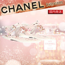 CHANEL Open Toe Blended Fabrics Elegant Style