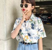 Casual Style Short Sleeves Shirts & Blouses