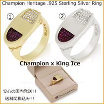 King Ice Unisex Street Style Collaboration Silver Rings