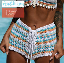 ANDI BAGUS Short Tropical Patterns Casual Style Street Style Cotton