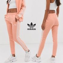 adidas Stripes Casual Style Sweat Street Style Long Sweatpants