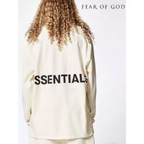 FEAR OF GOD ESSENTIALS Crew Neck Street Style Long Sleeves Cotton Oversized