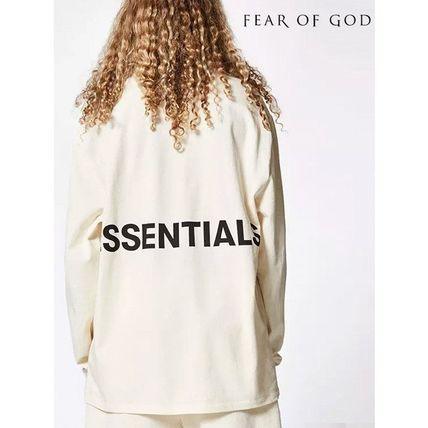 FEAR OF GOD Long Sleeve Crew Neck Street Style Long Sleeves Cotton Oversized