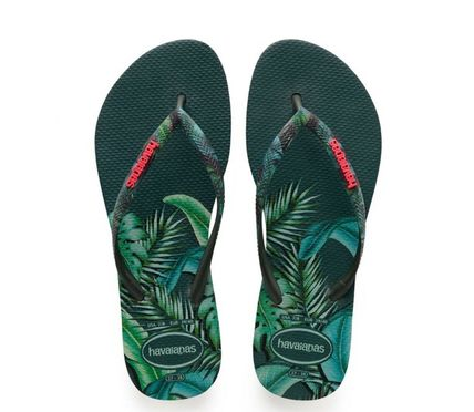 Tropical Patterns Casual Style Flip Flops Flipflop