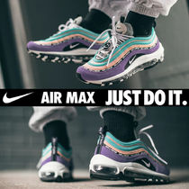 Nike AIR MAX 97 Unisex Blended Fabrics Street Style Plain Leather Sneakers