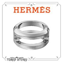 HERMES Plain Metal Rings