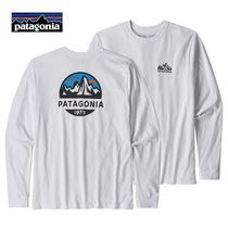 Patagonia Crew Neck Long Sleeves Plain Long Sleeve T-Shirts