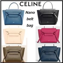 CELINE Belt Calfskin 2WAY Elegant Style Handbags