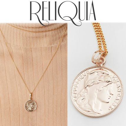 Unisex Coin 18K Gold Elegant Style Necklaces & Pendants