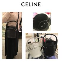 CELINE Luggage Calfskin 2WAY Plain Shoulder Bags