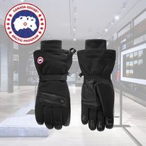 CANADA GOOSE Nylon Blended Fabrics Plain Smartphone Use Gloves