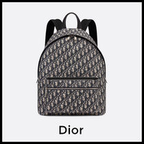 Christian Dior Unisex Calfskin Backpacks