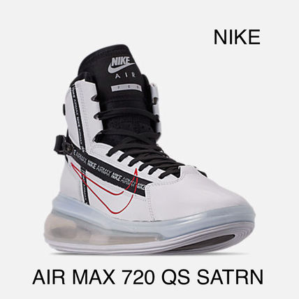 Nike AIR MAX 720 2019 SS Round Toe Rubber Sole Lace up Casual Style Street Style
