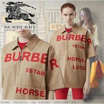 Burberry Street Style Cotton Short Sleeves Shirts & Blouses