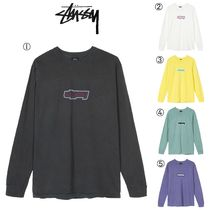 STUSSY Crew Neck Street Style Long Sleeves Long Sleeve T-Shirts