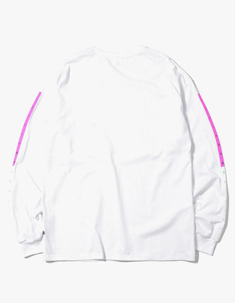 thisisneverthat Long Sleeve Crew Neck Unisex Street Style Long Sleeves Plain Cotton 13