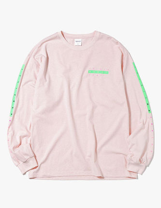 thisisneverthat Long Sleeve Crew Neck Unisex Street Style Long Sleeves Plain Cotton 3