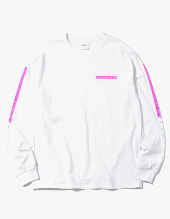 thisisneverthat Long Sleeve Crew Neck Unisex Street Style Long Sleeves Plain Cotton 2