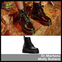 Dr Martens Platform Casual Style Street Style Leather