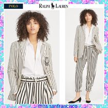 Ralph Lauren Stripes Bi-color Medium Elegant Style Jackets