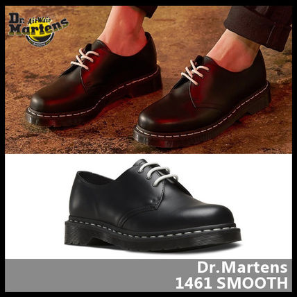 Unisex Street Style Leather Oxfords