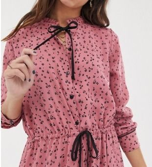 Flower Patterns Casual Style Maxi Long Sleeves Long Dresses