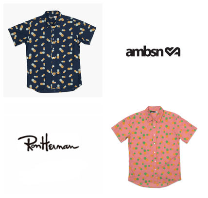 Tropical Patterns Other Animal Patterns Cotton Short Sleeves