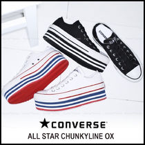 CONVERSE ALL STAR Stripes Platform Casual Style Platform & Wedge Sneakers