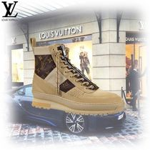 Louis Vuitton MONOGRAM Monogram Plain Toe Mountain Boots Blended Fabrics
