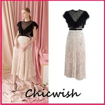Chicwish Blended Fabrics U-Neck Long Party Style Lace Dresses