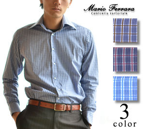 Gingham Other Plaid Patterns Long Sleeves Cotton Shirts