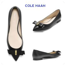 Cole Haan Plain Leather Elegant Style Slip-On Shoes