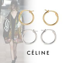 CELINE Brass Elegant Style Earrings & Piercings