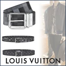 Louis Vuitton DAMIER Other Check Patterns Blended Fabrics Street Style Plain