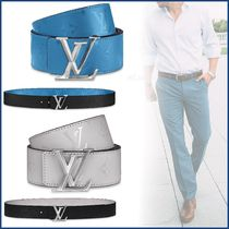 Louis Vuitton Monogram Blended Fabrics Street Style Plain Leather Belts