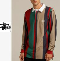 STUSSY Stripes Long Sleeves Cotton Polos