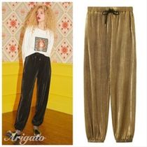 ELF SACK Casual Style Street Style Plain Long Cropped & Capris Pants