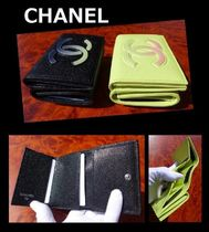 CHANEL ICON Unisex Leather Folding Wallets